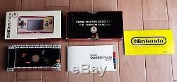 Gameboy Micro Famicom color Boxed Console +3 Mario games set Nintendo Tested CIB