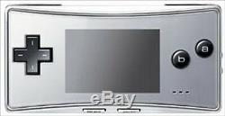 Gameboy Micro Silver Color VERY RARE F/S JAPAN USED
