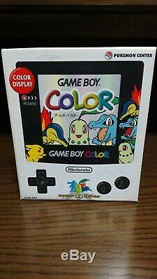 Gameboy color Pokemon center limited console gold and silver version Nintendo