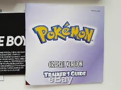 Gbc Gameboy Color Pokemon Crystal Version Cib Excellent