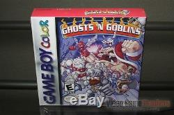 Ghosts'n Goblins (Game Boy Color, 1999) H-SEAM SEALED & MINT! ULTRA RARE