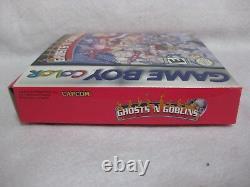 Ghosts'n Goblins Nintendo Game Boy Color in box Game Manual