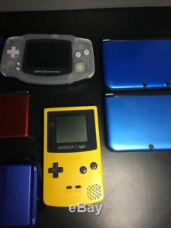Handheld Game Lot Of 11 Nintendo 3ds Gameboy, color, SP, DS Lite Sony PSP