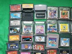 Huge Lot of 76 Nintendo Gameboy Advance Gameboy Color Games Mario Crash Pokemon