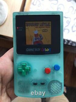 IPS Backlit Glow In The Dark Nintendo Gameboy Color GBC Stuart Little Cartridge