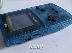 JUNK/BROKEN Nintendo Gameboy Color ANA Clear Blue Limited edition console-d0621