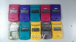 Junk GameBoy Color GBC Lot of 10 Set Nintendo Random Console Vintage Japan