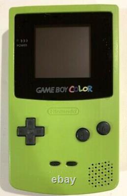 Kiwi GREEN Nintendo Gameboy COLOR Backlit with IPS Backlight New Screen + Lens