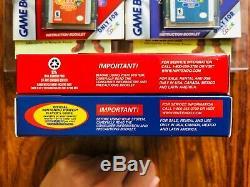 Legend of Zelda ORACLE SEASONS + AGES Gameboy Color Nintendo 1st PRINT FOIL MINT