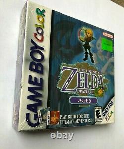 Legend of Zelda Oracle of Ages Nintendo Game Boy Color GBC NEW Sealed