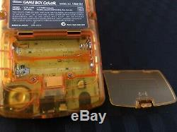 Limited Edition Nintendo Gameboy Color Ozzie Gold and Green Neotones Complete