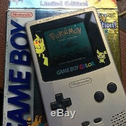 Limited Edition Pokemon Game Boy Color Gold / Silver