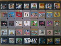 Lot 40 Jeux GAME BOY / COLOR (ZELDA / PENTA DRAGON / SUPER MARIO) Japan Nintendo