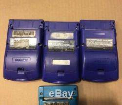 Lot Of 7 GameBoy Colors Multiple Colors All Turn On