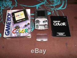 Lot exceptionnel de 6 consoles nintendo game boy color completes TBE