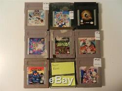 Lot of 30 Nintendo Game Boy Original & Game Boy Color Games Mega Man, Pokemon