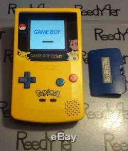 MCWILL BACKLIT GBC Pokemon Pikachu Nintendo System Yellow & Blue GameBoy Color