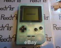 MINT Nintendo GameBoy Pocket GLOW IN THE DARK refurbished System Green color