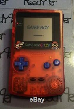 MINT Red & Blue Mario Bros. Gameboy Color Custom Nintendo System Game Boy GBC