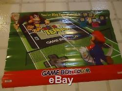 Mario Tennis Game Boy Color Store Display Promotional Banner Promo Donkey Kong