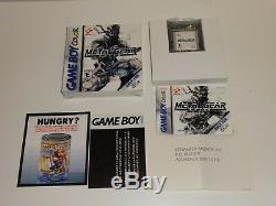 Metal Gear Solid (Nintendo Game Boy Color, 2000) Complete in Box CIB. NICE