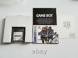Metal Gear Solid Nintendo Gameboy Color GBC Game EUR CIB Boxed/manual