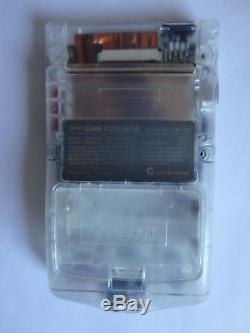 Modded AGS 101 Nintendo Game Boy Color Edition CLEAR Handheld System BACKLIT
