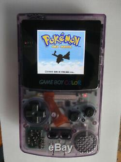 Modded AGS 101 Nintendo Game Boy Color Edition clear purple Handheld System