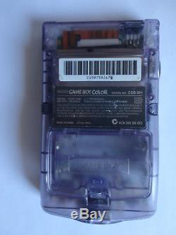 Modded AGS 101 Nintendo Game Boy Color atomic purple Handheld System BACKLIT