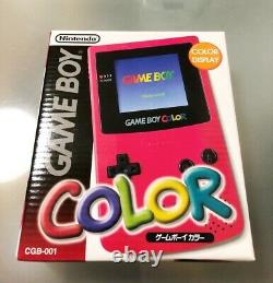 NEW Gameboy Color RED Console System Japan COLLECTORS ITEM