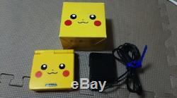 NINTENDO GAME BOY Advance SP Console POKEMON Center PIKACHU Limited Color