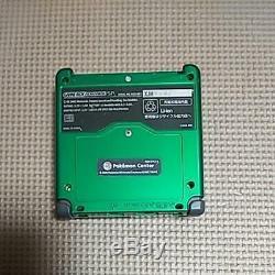 NINTENDO GAME BOY Advance SP Console Rayquaza POKEMON Center Limited Color w Box