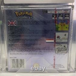 NINTENDO Gameboy Color Pokemon Crystal VGA/UKG Graded 85+NM GOLD 2001