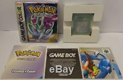 NINTENDO Gioco Game Boy GameBoy Color ITALIANO ITA POKEMON VERSIONE CRISTALLO