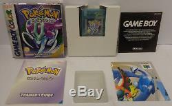 NINTENDO Gioco Game Boy GameBoy Color ITALIANO POKEMON VERSIONE CRISTALLO (B)