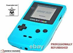 New Glass Screen - Teal Blue Nintendo Game Boy Color Cgb-001 Portable Restored