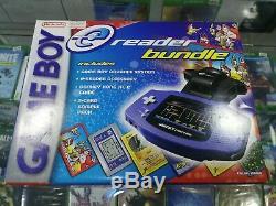 New Nintendo Game Boy Advance Indigo Handheld System e-reader Bundle Sealed