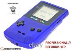 New Screen - Purple Grape Nintendo Game Boy Color, Fully Restored