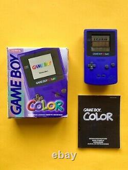 Nintendo GAMEBOY COLOR Lila Purple OVP Box Neu CIB Clear CGB k GB GBA SP Pokemon