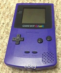 Nintendo GAMEBOY Color Bundle with POKEMON Red Yellow Blue Gold Silver + Gameshark