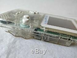 Nintendo GAMEBOY Light FAMITSU 500 Limited Clear Color Console MODEL-F02 -b1204