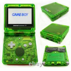 Nintendo Game Boy Advance GBA SP Clear Green System AGS 101 Brighter NEW