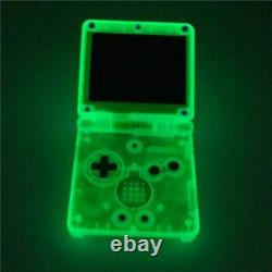 Nintendo Game Boy Advance GBA SP Glow in the Dark Clear Blue System AGS 001