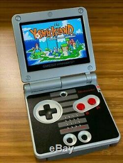 Nintendo Game Boy Advance GBA SP IPS MOD System 10 Level Brightness AGS 101 NES