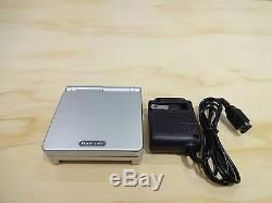 Nintendo Game Boy Advance GBA SP Platinum Silver System AGS 001 MINT NEW