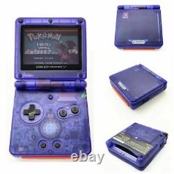 Nintendo Game Boy Advance GBA SP Transparent Clear Purple System AGS 001 MINT