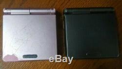 Nintendo Game Boy Color Advance SP Graphite Pearl Pink AGS 101 Backlit Ds Lite