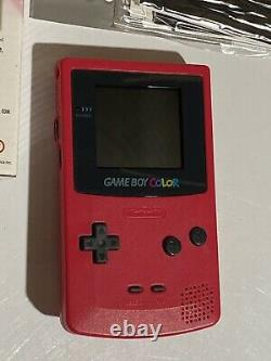 Nintendo Game Boy Color Berry Excellent Complete In Box Condition