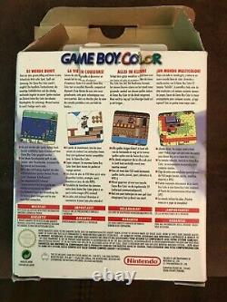Nintendo Game Boy Color Clear Atomic Purple Complete In Box CIB With Inserts