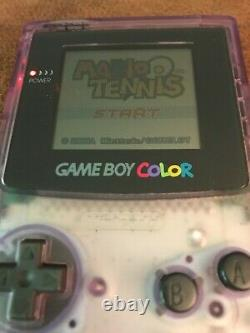 Nintendo Game Boy Color Clear Atomic Purple Complete In Box CIBSee description